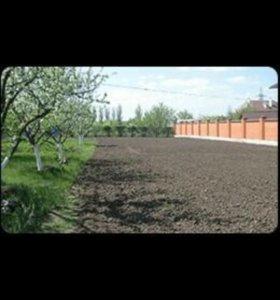 Вспашка земли мотоблоком.Покос травы,спил деревьев