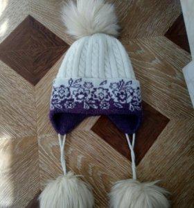 Теплая зимняя шапочка