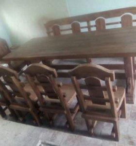 Мебель для сада и массива дуба