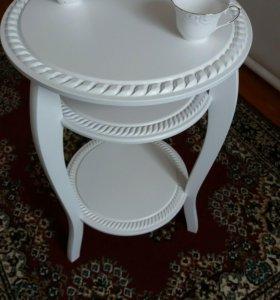 Кофейный столик. 75×50×50см. Материал дерево.