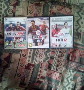 Диски Fifa14и12 и Pes2010