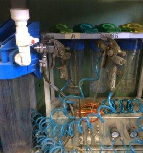 Установка для химической металлизации.