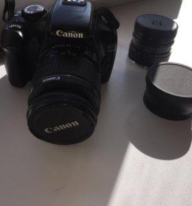 Фотоаппарат Canon 1100D + 3 объектива + сумка