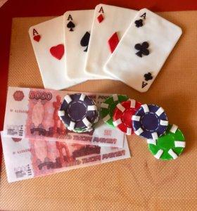 Декор для украшения торта - Покер