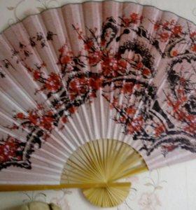 Декоративный веер на стену
