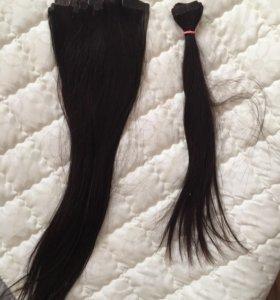 Волосы натур-е для ленточного наращивания НairShop