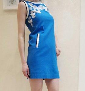 Платье хб с кружевом