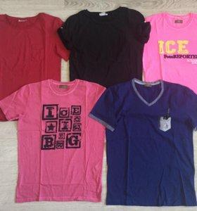 Брендовые футболки пакетом, новые
