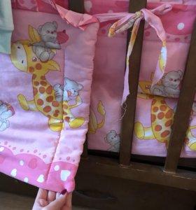 Кроватка детская + бортики