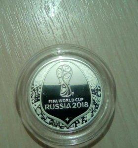 Медаль серебро 925 проба FlFA2018 в России