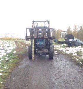 Трактор с куном МТЗ 82