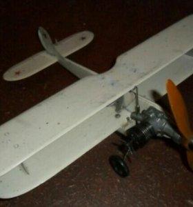 Кордовая авиамодель по-2 биплан