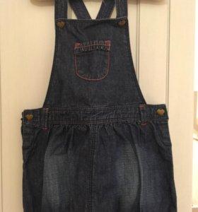 Сарафан джинсовый,размер 92