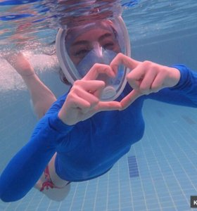 Маска для плавания под водой Easybreath