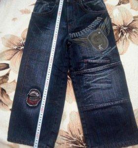 Новые утепленные джинсы 104 размер