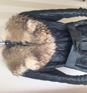 Пальто зимнее натуральная кожа