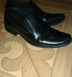 Кожаные туфли 25см