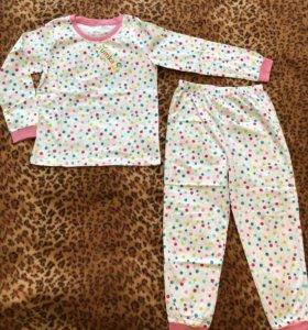 Пижама для девочки. Новая с биркой. Размер 122-128