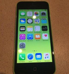 iPhone 5c -8 гб, оригинал, зелёный.