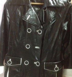 Новая кожаная куртка 46-49 лак
