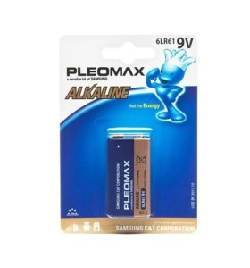 Аккумулятор  Samsung  PLEOMAX  (ALKALINE,9V)