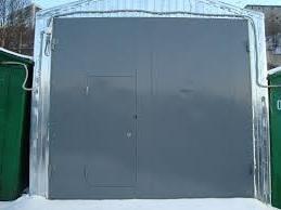 Распашные ворота металлические.Изготовление