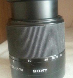 Обьектив Sony DT 3.5-5.6/18-70 0.38m /1.3ft makro