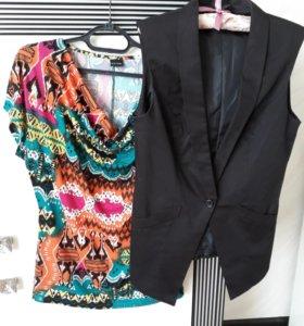 Жилет + блуза 48-50р.