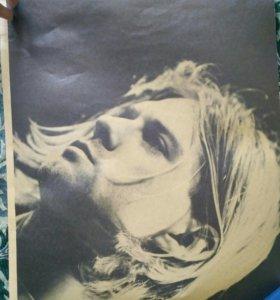 плакат nirvana и принцесса мононоке