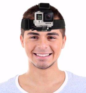 Крепление на голову для экшн камеры GoPro, sjcam