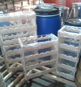 Стеллажи , шкафы для хранения вина