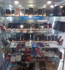 Мобильные телефоны новые.