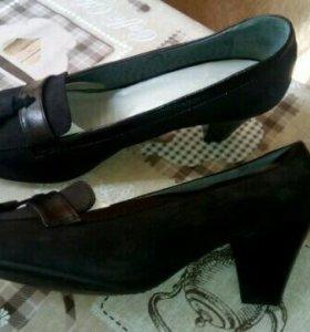 Новые туфли из натурального нубука