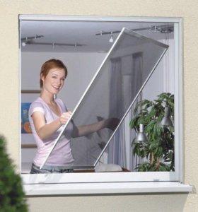 Перетяжка москитных сеток за 5 минут у Вас дома.