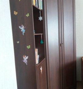 Угловой шкаф+книжный пенал