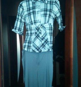 Блузка и брюки на беременную