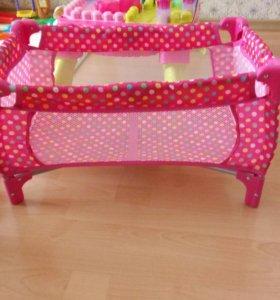 Кровать-манеж для кукол