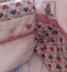 Комплек детского белья в кроватку
