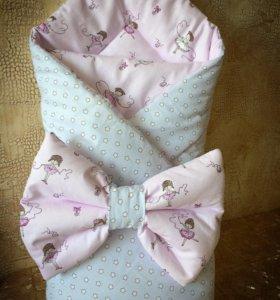 Конверт одеяло на выписку ребёнка