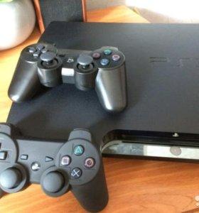Sony PlayStation 3 160 GB, 2 беспроводных геймпада