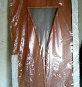 Дверь новая с коробкой и обналичкой