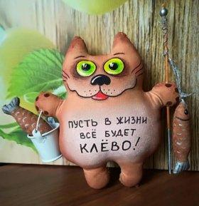 Коты кофейные (ручная работа)