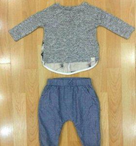 Штанишки и кофточка для девочки на 3-6 месяцев