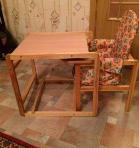 Детский стул и столик