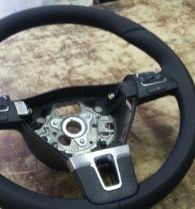 Перетяжка рулей, ручек КПП и т.д. Ремонт сидений.