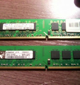 ddr2 2×1гб kingston и samsung 667Mhz