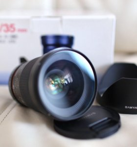 Объектив Samyang 35 1.4 Canon