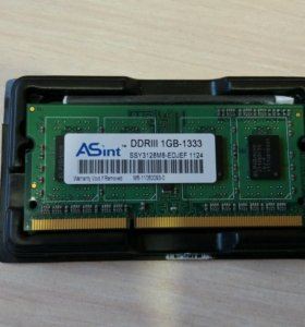 Оперативная память DDR3 ASint 1 gb