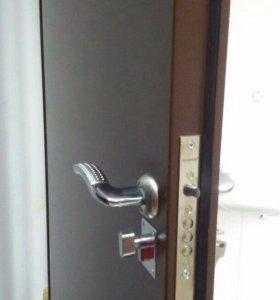 Установка входных металических дверей