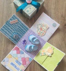 Подарочные коробочки-конверты для денег на заказ